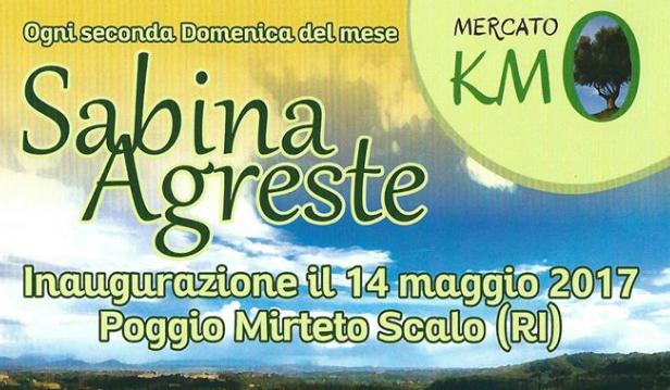 NOVITA' – Mercato Sabina Agreste (info)