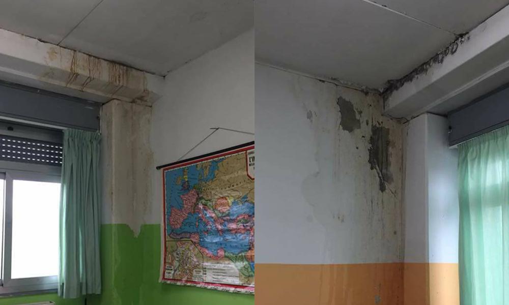 PASSO CORESE – Liceo Rocci a pezzi: muffa e umidità (FOTO)