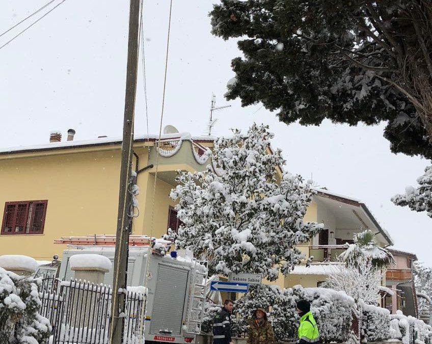 PASSO CORESE – Ramo su cavo elettrico: Protezione Civile al lavoro (FOTO)