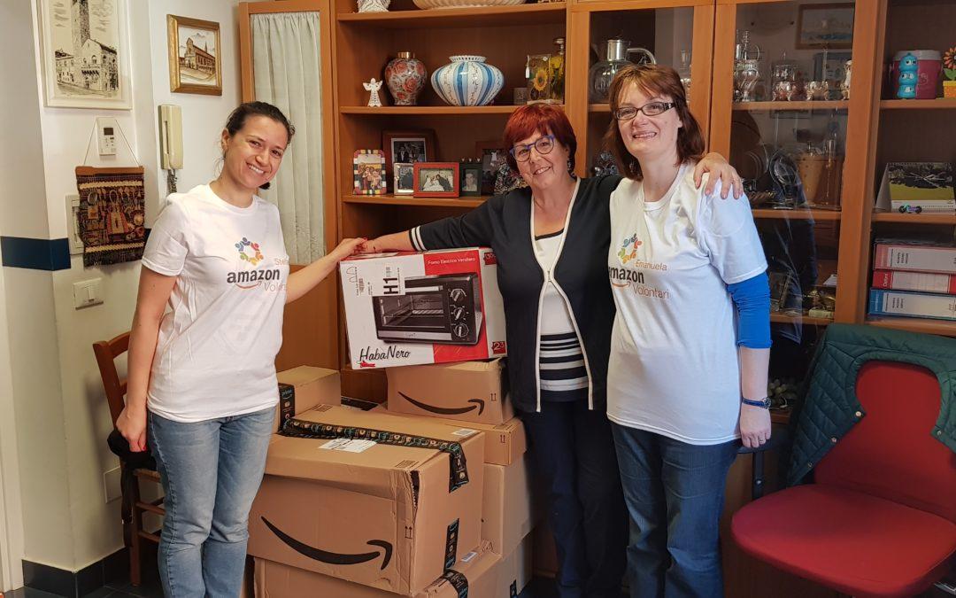 Amazon sostiene l'AIL con una donazione per i pazienti ospitati dalla Residenza Vanessa