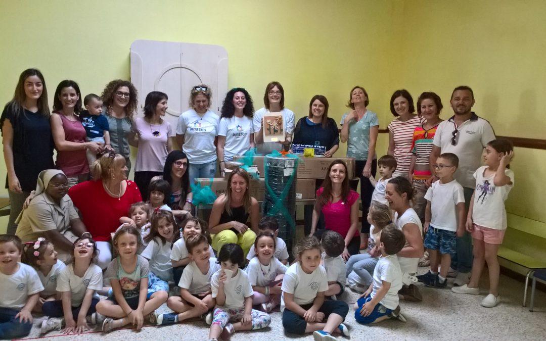 """FARA SABINA – Amazon: donazione a sostegno della Scuola Paritaria """"Santa Croce"""" di Passo Corese"""