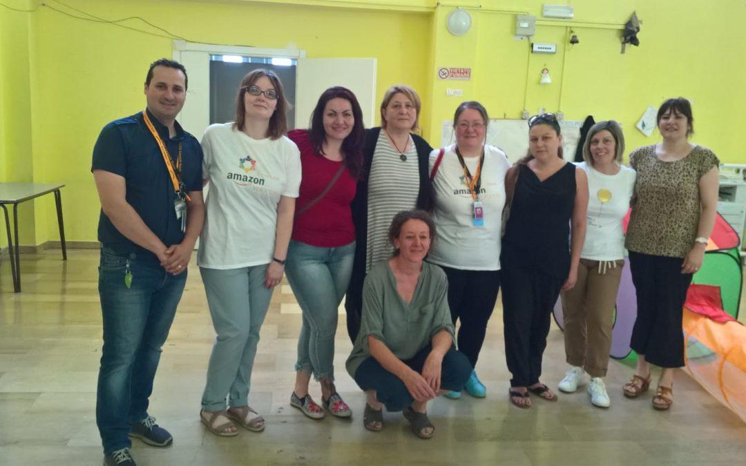 FARA SABINA – Amazon, donazione a sostegno dell'Asilo comunale di Calcata