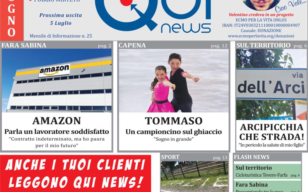 Leggi la 25a uscita di Qui News! (edizione del 7 giugno 2018)