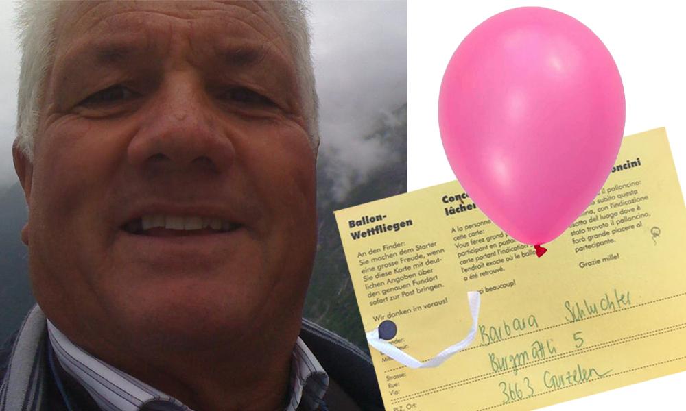 Dalla Svizzera a Toffia: Fernando trova un palloncino rosa…