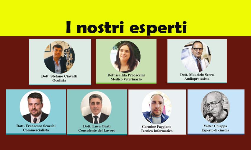 LEGGI TUTTE LE RUBRICHE DEI NOSTRI ESPERTI! (ed. 11 luglio 2018)
