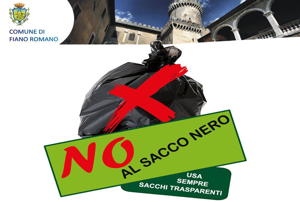FIANO ROMANO – Divieto assoluto di utilizzo dei sacchi neri per il conferimento dei rifiuti indifferenziati