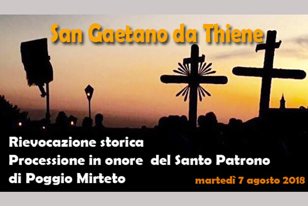 POGGIO MIRTETO – Processione storica di S. Gaetano da Thiene