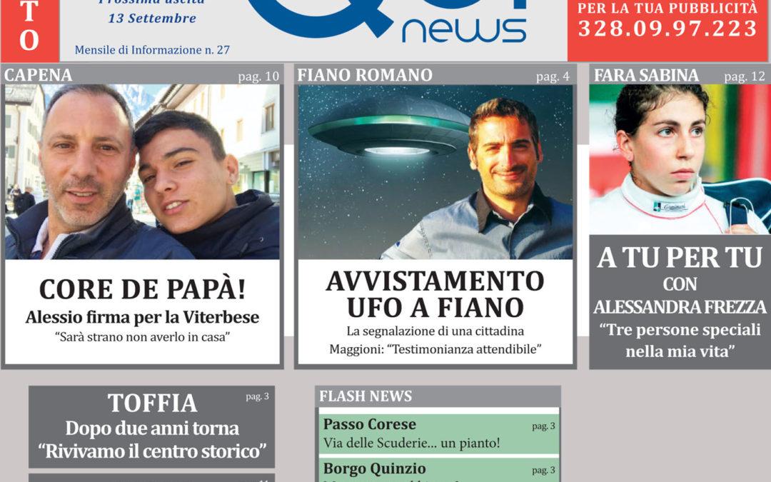 Leggi la 27a uscita di Qui News! (edizione del 2 agosto 2018)