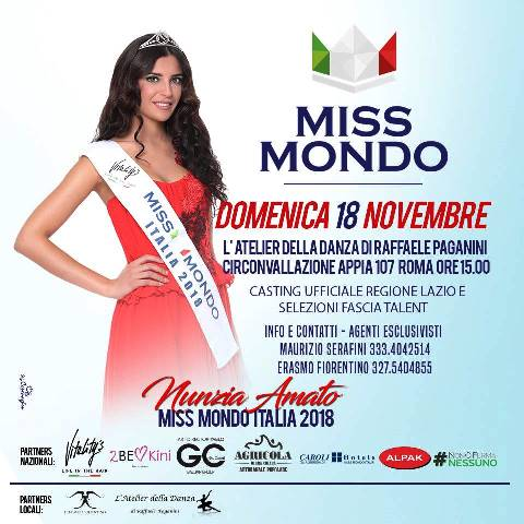 Miss Mondo Lazio al via la seconda tappa