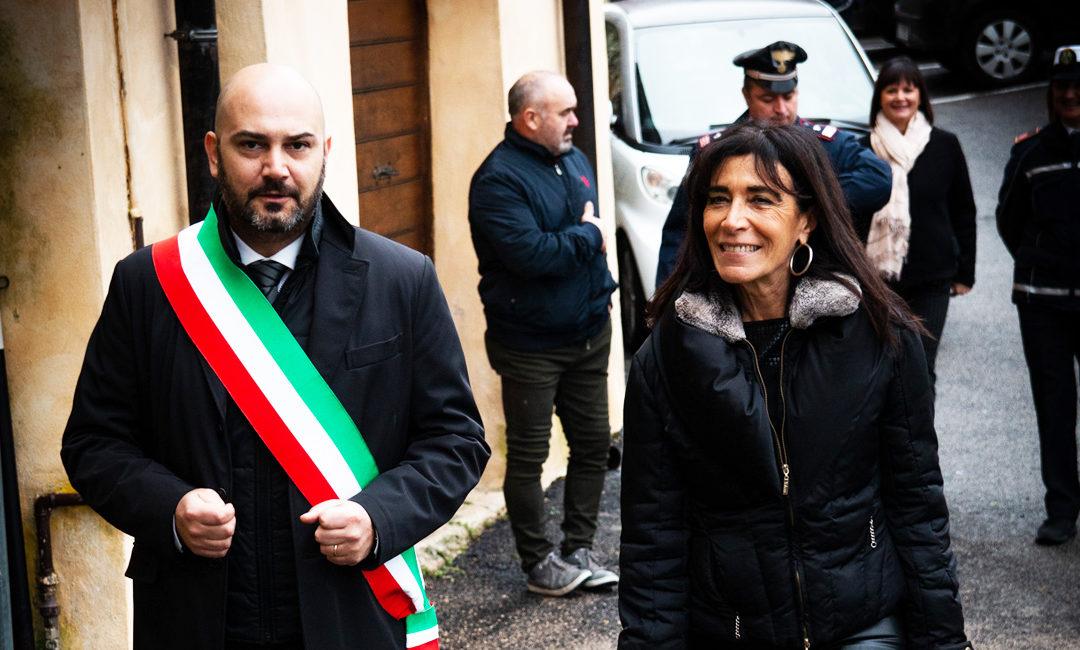 Cast. di Farfa – Il Prefetto di Rieti in visita… e ci scappa la bruschetta!