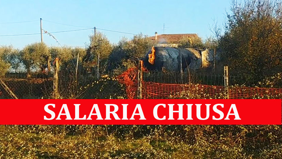 SALARIA CHIUSA – Oggi dalle 9 per rimozione autocisterna (le info)