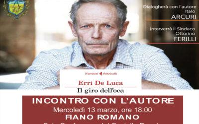 FIANO ROMANO – Erri De Luca presenta il suo ultimo libro (info)