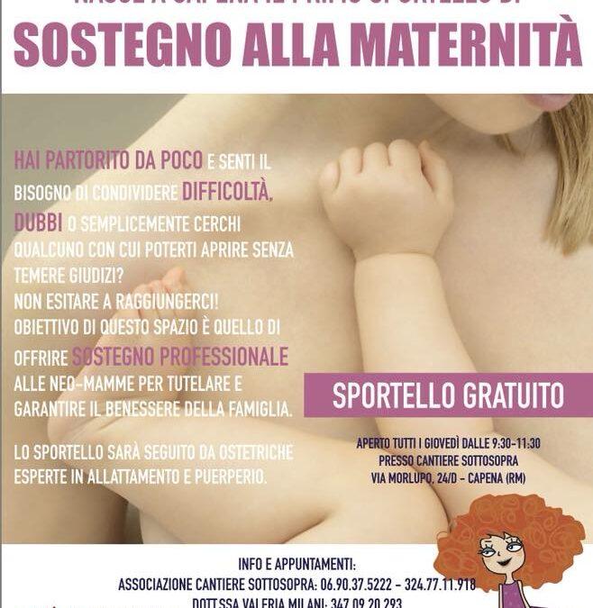 CAPENA – Nasce il primo sportello di sostegno alla maternità